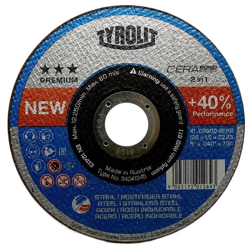 Tyrotlit disco Cerabond T41 2 en 1 125x1 34241345